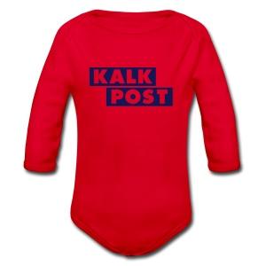 Body mit Kalk Post Balken - Baby Bio-Langarm-Body