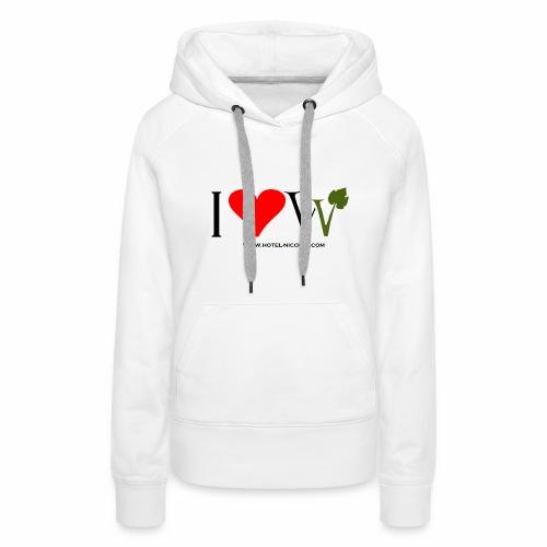 I ❤ W Kaputzenpulli - Frauen Premium Hoodie