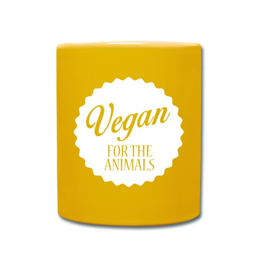 Vegan for the animals - Mok oranje - Mok uni