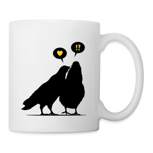 Love me now! Two Valentine Birds_2c - Tasse