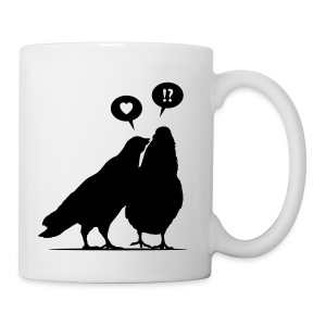 Love me now! Two Valentine Birds_1c - Tasse