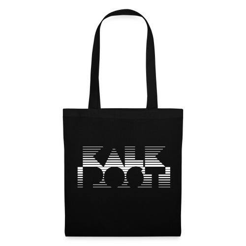 Schwarze Tasche mit weissem Kalk Post Vice in Flexdruck - Stoffbeutel