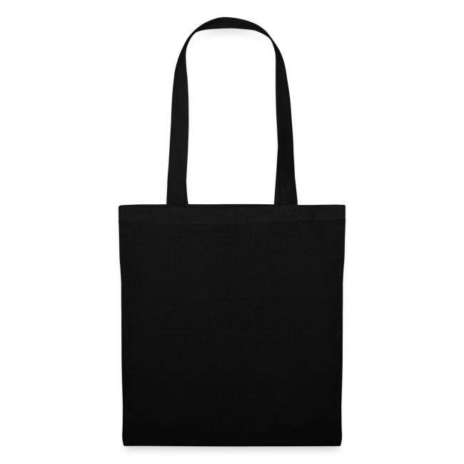 Schwarze Tasche mit weissem Kalk Post Vice in Flexdruck