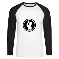 Long sleeve shirts ~ Men's Long Sleeve Baseball T-Shirt ~ I drink on front and throw up on back