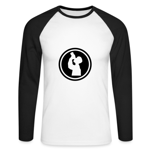 I drink on front and throw up on back - Men's Long Sleeve Baseball T-Shirt