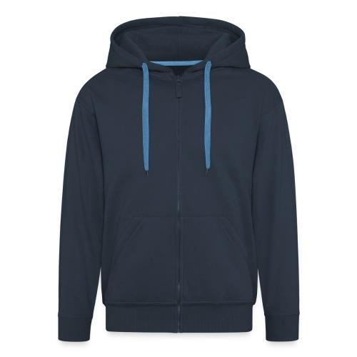 Just a blue hoodie - Men's Premium Hooded Jacket