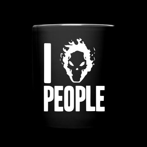 Ich hasse Menschen - Tasse einfarbig