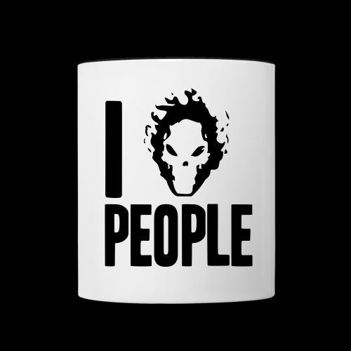 Ich hasse Menschen - Tasse zweifarbig