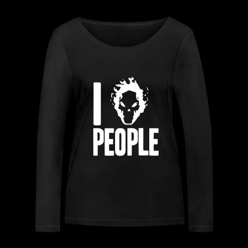 Ich hasse Menschen - Frauen Bio-Langarmshirt von Stanley & Stella