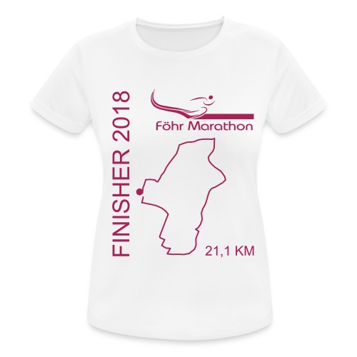 2018 Finisher HM magenta - Frauen T-Shirt atmungsaktiv