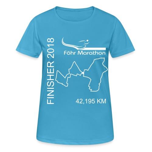 2018 Finisher F Marathon weiß - Frauen T-Shirt atmungsaktiv