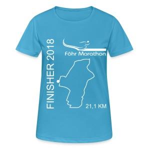 2018 Finisher F HM weiß - Frauen T-Shirt atmungsaktiv