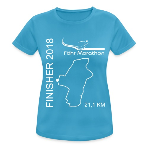 2018 Finisher F HM weiß - Frauen T-Shirt atmungsaktiv