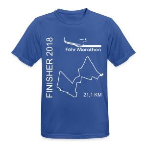 2018 Ziel M Langschläfer blau - Männer T-Shirt atmungsaktiv