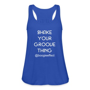 Shake Your Groove Racer Back Blue - Women's Tank Top by Bella