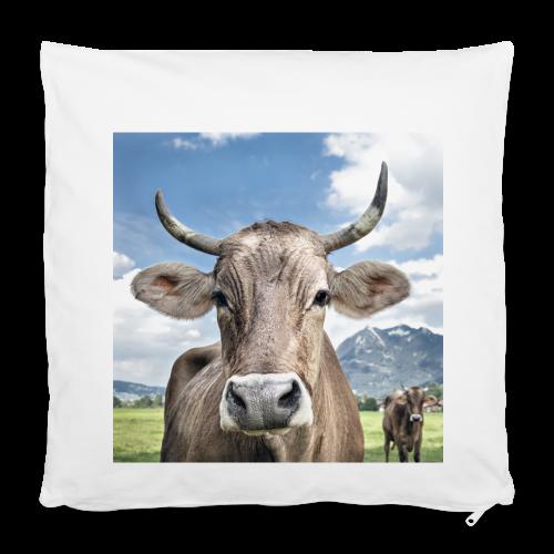 Kuh vor Grünten Kissenbezug 40x40 cm - Kissenbezug 40 x 40 cm