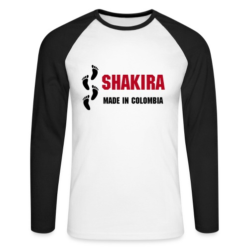 Shakira - Made in Colombia - Men's Long Sleeve Baseball T-Shirt