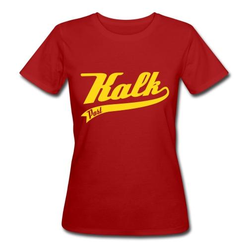 Kalk Post Classic gelb in Flockdruck - Frauen Bio-T-Shirt