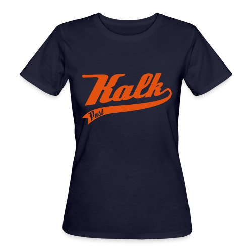 Kalk Post Classic orange in Flockdruck - Frauen Bio-T-Shirt