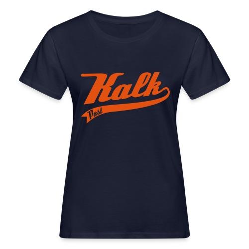 Kalk Post Classic orange in Flockdruck - Frauen Bio-T-Shirt