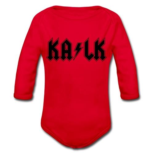 Body mit  Kalk Motiv in schwarzem Direktdruck - Baby Bio-Langarm-Body