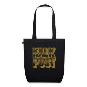 Bio-Stofftasche mit goldenem Flexdruck Kalk Post Sunrise - Bio-Stoffbeutel