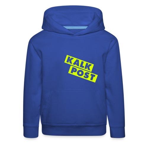 Flexdruck neongelb Kalk Post Balken - Kinder Premium Hoodie