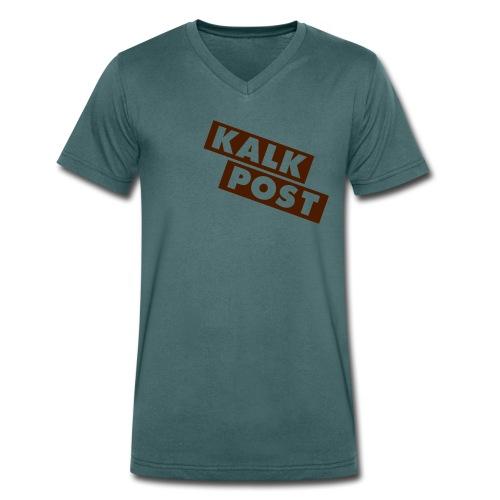 Ozeangrünes Shirt mit Flexdruck braun Kalk Post Balken - Männer Bio-T-Shirt mit V-Ausschnitt von Stanley & Stella