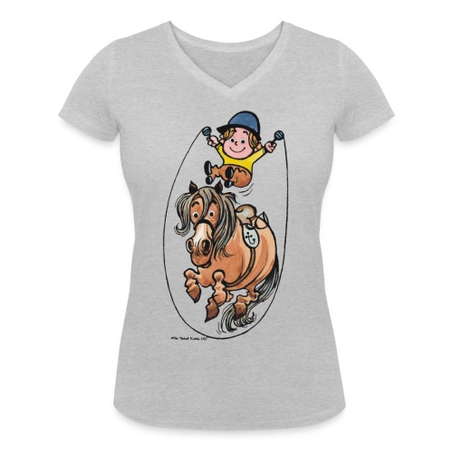 Thelwell Springseil - Women's Organic V-Neck T-Shirt by Stanley & Stella