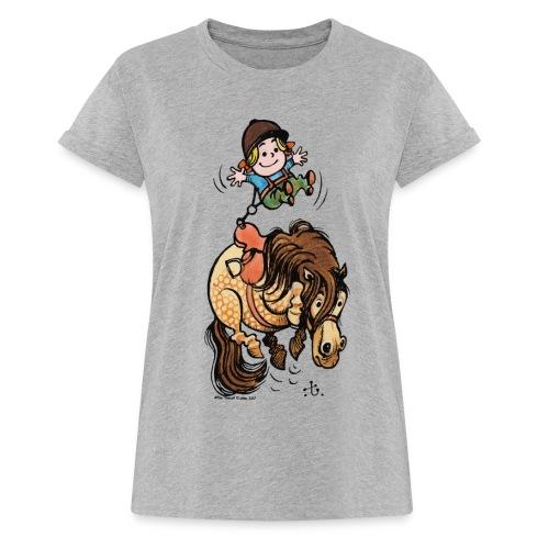Thelwell Rodeo - Frauen Oversize T-Shirt