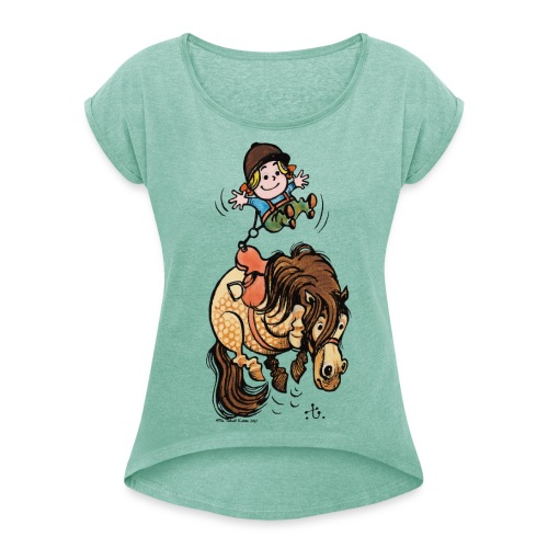 Thelwell Rodeo - Women's T-Shirt with rolled up sleeves