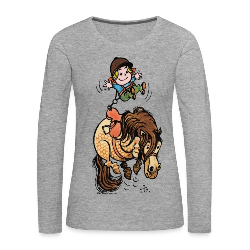 Thelwell Rodeo - Frauen Premium Langarmshirt
