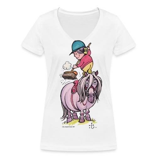 Thelwell Frühjahrsputz - Women's Organic V-Neck T-Shirt by Stanley & Stella