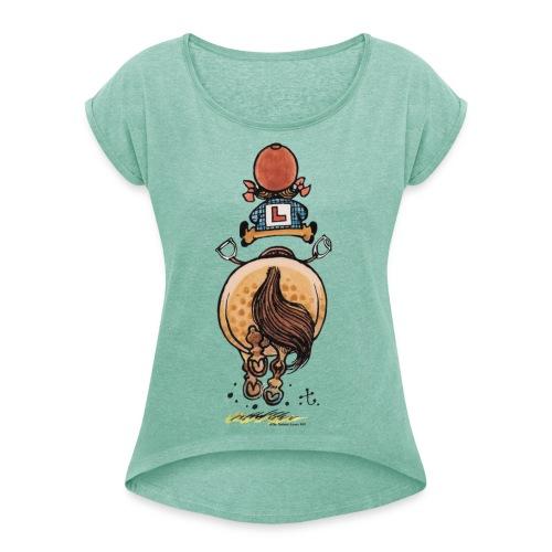 Thelwell Rennen - Frauen T-Shirt mit gerollten Ärmeln