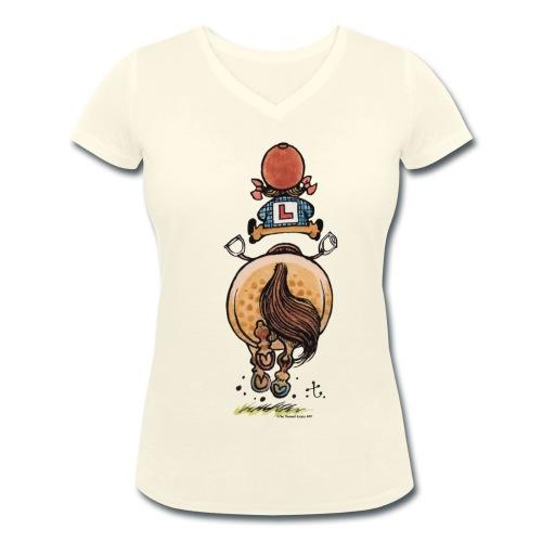 Thelwell Rennen - Frauen Bio-T-Shirt mit V-Ausschnitt von Stanley & Stella