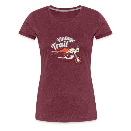 Tee Shirt femme Vintage Trail Rouge - T-shirt Premium Femme