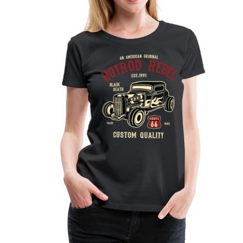 Womens Premium - HotRod Rebel T-shirt - Women's Premium T-Shirt