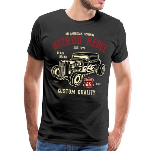 Mens Premium - HotRod Rebel T-shirt - Men's Premium T-Shirt