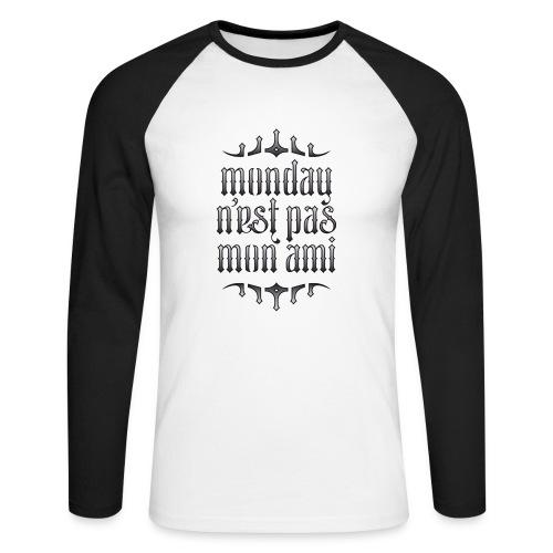 Monday v1 - Mannen baseballshirt lange mouw