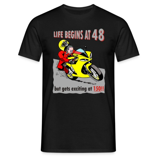 Life begins at 48 - Men's T-Shirt