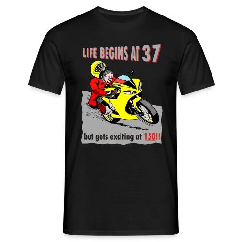 Life begins at 37 - Men's T-Shirt