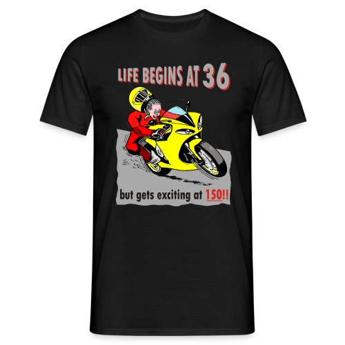 Life begins at 36 - Men's T-Shirt