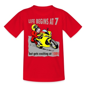 Life begins at 7 (child) - Teenage T-shirt