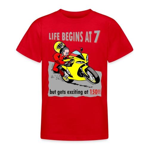 Life begins at 7 (child) - Teenage T-Shirt