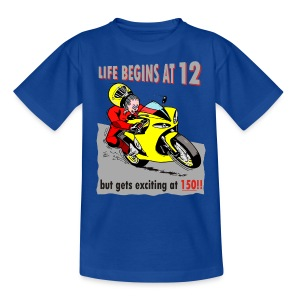 Life begins at 12 (child) - Teenage T-shirt