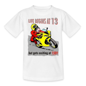 Life begins at 13 (child) - Teenage T-shirt