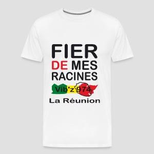 T-shirt Homme Fier de mes racines - 974 Ker Kreol - T-shirt Premium Homme