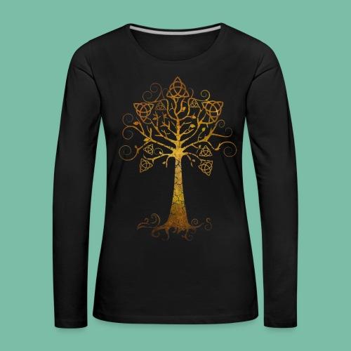 T-shirt femme grandes tailles  arbre phare doré - T-shirt manches longues Premium Femme