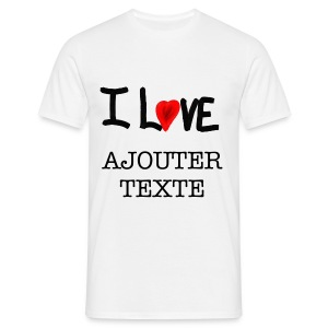 I LOVE... - T-shirt Homme