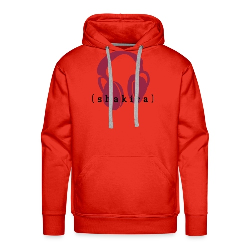 Listening to Shakira (red) - Men's Premium Hoodie